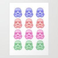 Multi-color Stromtrooper Art Print