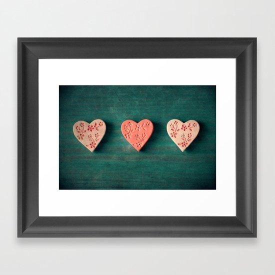 My Heart goes boom.. Framed Art Print