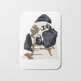 Pug, pug Tee, Dog T-shirt, Pug Face tshirt Bath Mat