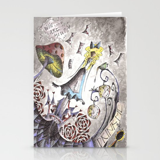 We're All Mad Stationery Cards