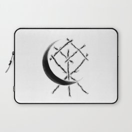 Crescent Moon Rune Binding at Midnight Laptop Sleeve
