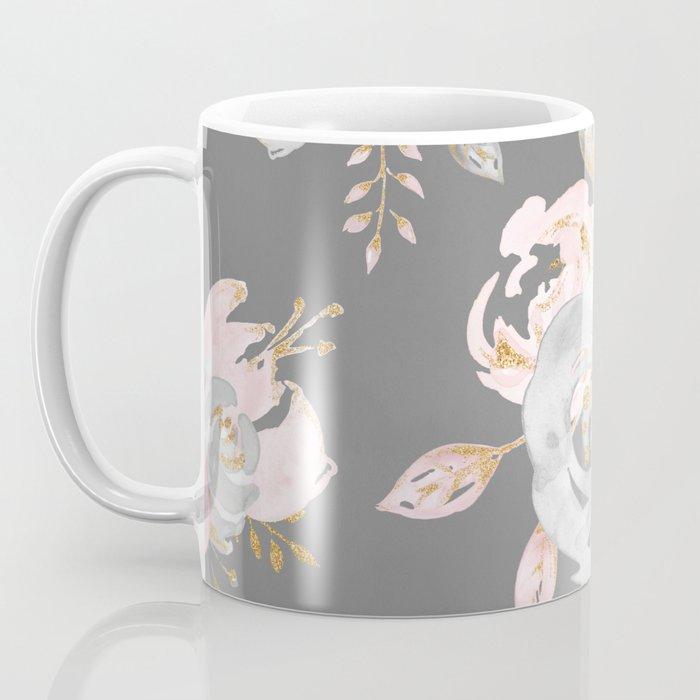 Night Rose Garden Gray Coffee Mug