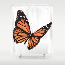 Geometric Butterfly Shower Curtain