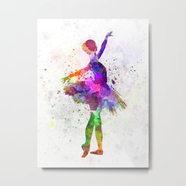 Young woman ballerina ballet dancer dancing with tutu Metal Print