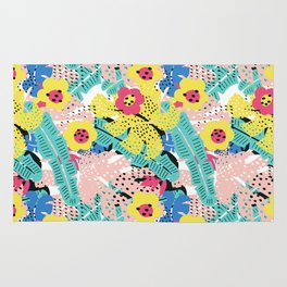 Tropical floral pattern Rug