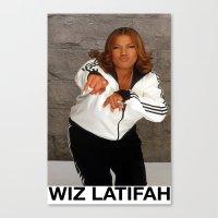 wiz khalifa Canvas Prints featuring Wiz Latifah by 6triangles
