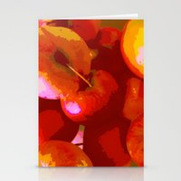 apple Stationery Cards featuring Apple by Mr and Mrs Quirynen