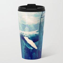 Blue Whale in NYC Travel Mug