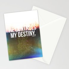 He controls my destiny  Stationery Cards