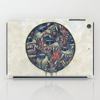 anxiety iPad Cases featuring Anxiety by Mallory Hodgkin