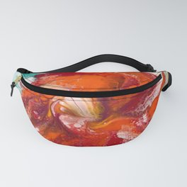 Orange Flower Craze Fanny Pack