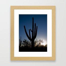 Sunset Cacti 3 Framed Art Print