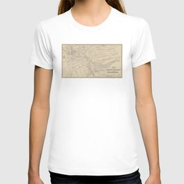 Vintage Map of Saratoga Springs NY (1895) T-shirt