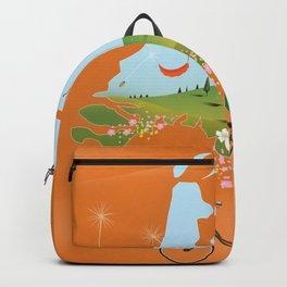 Holland travel poster Backpack