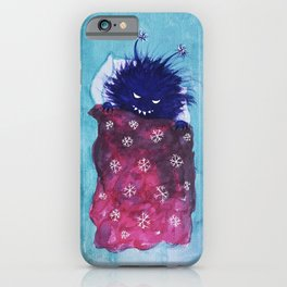 Cute Evil Bug Goes To Sleep iPhone Case