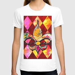 Pink Fleur d Lis Collage T-shirt