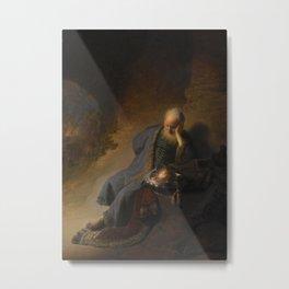 Jeremiah Lamenting the Destruction of Jerusalem Metal Print