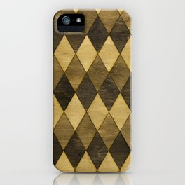 Wooden Diamonds iPhone Case