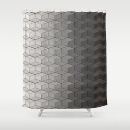 Pattern #6 Greyscale Shower Curtain