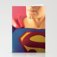 man of steel Stationery Cards featuring Man Of Steel  by Fanboy30