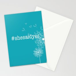 #shesaidyes Stationery Cards