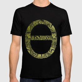 Theta Print-Black & Gold T-shirt