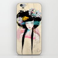 faces iPhone & iPod Skins featuring Nenufar Girl by Ariana Perez
