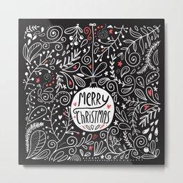 Merry Christmas doodles Metal Print