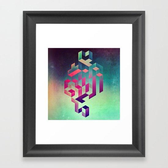 isyhyrtt dyymyndd spyyre Framed Art Print