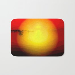 Yellow Sunset Bath Mat