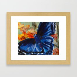 blue rapture Framed Art Print