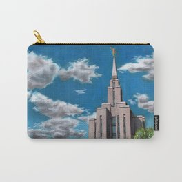 Oquirrh Mountain LDS Temple Carry-All Pouch