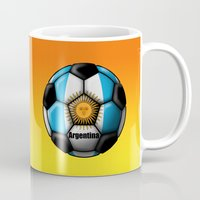 argentina Mugs featuring Argentina Ball by kuuma