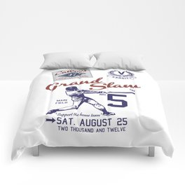 Baseball Grand Slam Vintage Design. Comforters