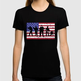 US Military American Soldier 4th July Veteran Gift T-shirt
