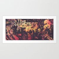 sopranos Art Prints featuring The Sopranos (in memory of James Gandolfini) by Nechifor Ionut