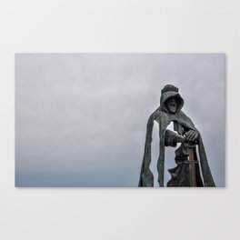 King Arthur Statue - Tintagel Castle - England Canvas Print