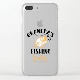 Grandpa's fishing Clear iPhone Case