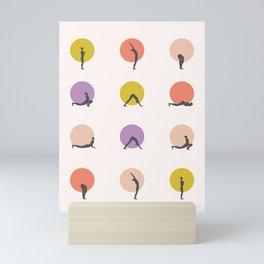 sun salutation I – multi Mini Art Print