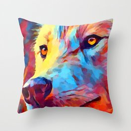 Wolf Portrait 3 Throw Pillow