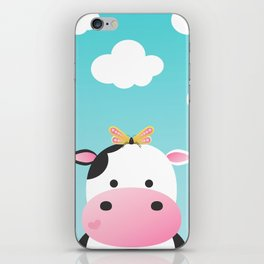 Cow & Buttefly iPhone Skin