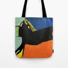 Black Dog and Green Ball Tote Bag
