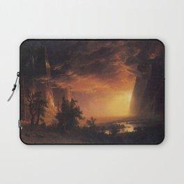 Albert Bierstadt - Sunset in the Yosemite Valley Laptop Sleeve