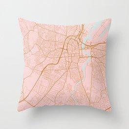 Belfast map, Northern Ireland Throw Pillow