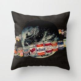 Globe Robe Throw Pillow