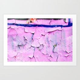 Texture Pink Art Print