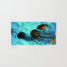 Jellyfish of the Under Sea Volcano Hand & Bath Towel