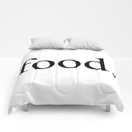 Food Serif Comforters
