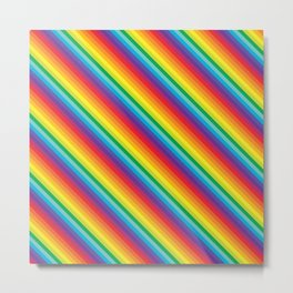 Rainbow Stripe Metal Print