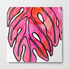 Pinky Ulu Leaf Metal Print